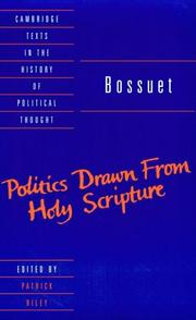 Cover of: Politics drawn from the very words of Holy Scripture