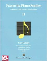 Cover of: Favourite Piano Studies II
