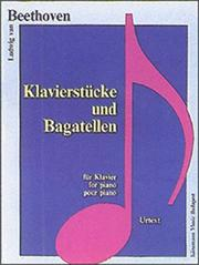 Cover of: Piano Pieces and Bagatelles