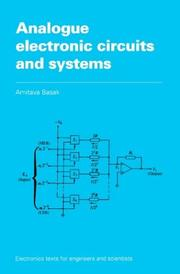 Cover of: Analogue electronic circuits and systems