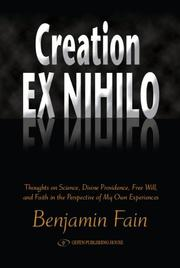 Cover of: Creation Ex Nihilo