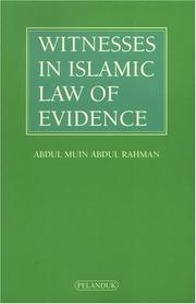 Cover of: Witnesses in Islamic Law of Evidence