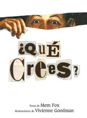Cover of: Que Crees?