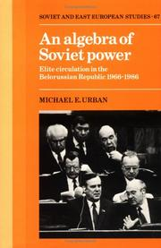Cover of: An algebra of Soviet power
