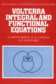 Cover of: Volterra integral and functional equations | G. Gripenberg