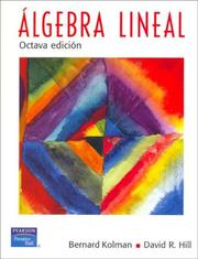 Cover of: Algebra lineal