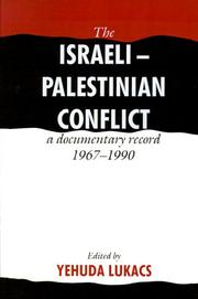 Cover of: The Israeli-Palestinian Conflict