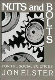 Cover of: Nuts and bolts for the social sciences