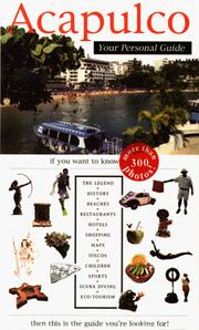Cover of: Acapulco, your personal guide | Gustavo A. Delao