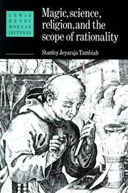 Cover of: Magic, science, religion, and the scope of rationality | Stanley Jeyaraja Tambiah
