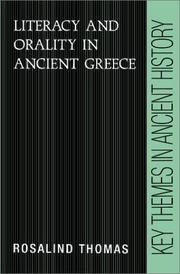 Cover of: Literacy and orality in ancient Greece