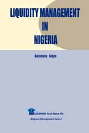 Cover of: Liquidity Management in Nigeria | Ademola Ariyo