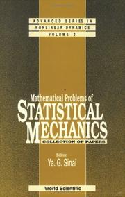 Cover of: Mathematical Problems of Statistical Mechanics