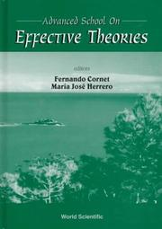 Advanced School On Effective Theories: Almunecar, Granada, Spain:  26 June 1 July 1995