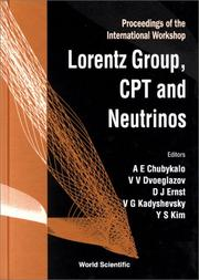 The Lorentz Group, Cpt and Neutrinos by