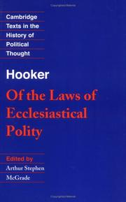 Cover of: Of the lawes of ecclesiasticall politie