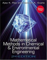 Cover of: Mathematical Methods in Chemical & Environmental Engineering | Ajay K. Ray