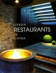 Cover of: URBAN RESTAURANTS IN CHINA