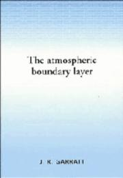 The atmospheric boundary layer by J. R. Garratt