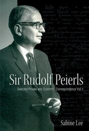 Cover of: Sir Rudolf Peierls
