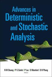 Cover of: Advances in Deterministic and Stochastic Analysis |