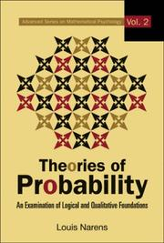 Cover of: Theories in Probability | Louis Narens