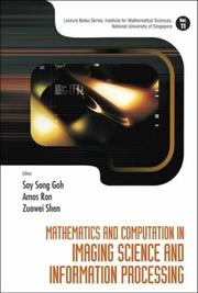 Cover of: Mathematics and Computation in Imaging Science and Information Processing (Lecture Notes Series, Institute for Mathematical Sciences National University ... Sciences National University of Singapore) |