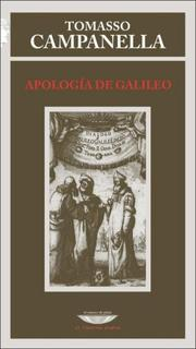 Cover of: Apologia de Galileo