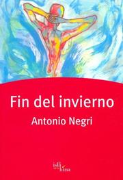 Cover of: Fin del Invierno