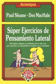 Cover of: Super Ejercicios de Pensamiento Lateral / Great Lateral Thinking Puzzles (Coleccion de Mente)