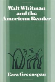 Cover of: Walt Whitman and the American reader