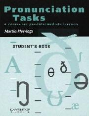 Cover of: Pronunciation Tasks Student