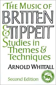 Cover of: The music of Britten and Tippett | Arnold Whittall