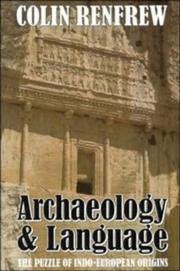 Cover of: Archaeology and language