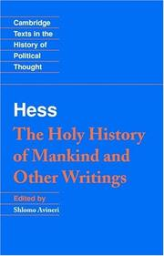 Cover of: The holy history of mankind and other writings