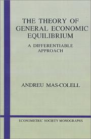 Cover of: The theory of general economic equilibrium