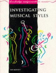 Cover of: Investigating Musical Styles