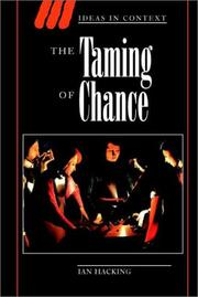 Cover of: The taming of chance