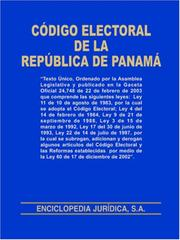 Cover of: Codigo Electoral de la Republica de Panama by EJuridica / Universal Books