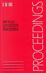 Cover of: 1999 Ncaa Convention Proceedings