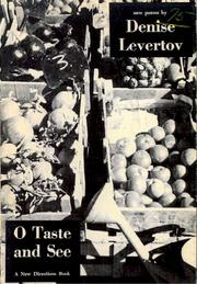 Cover of: O taste and see