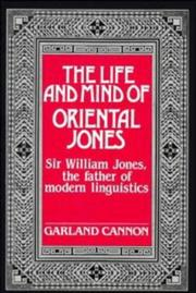 Cover of: life and mind of Oriental Jones | Garland Hampton Cannon