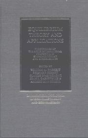 Cover of: Equilibrium Theory and Applications |