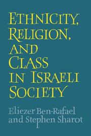Cover of: Ethnicity, religion, and class in Israeli society