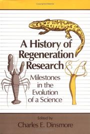 Cover of: A History of regeneration research |