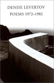 Cover of: Poems 1972-1982