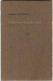Cover of: Summer poems, 1969