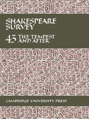 Cover of: Shakespeare Survey 43 | Stanley Wells