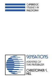 Cover of: Sensations | Christopher S. Hill
