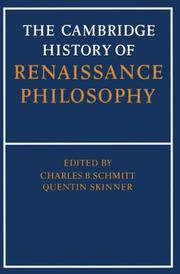 The Cambridge History of Renaissance Philosophy
